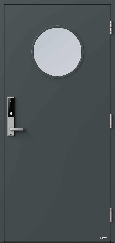 NorDan ytterdør Gaula med RAL7016 farge og ID Lock Sølv