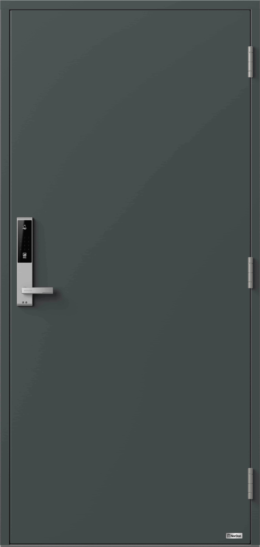 NorDan ytterdør Glomma med RAL7016 farge og ID Lock Sølv