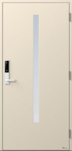 NorDan ytterdør Bardu med RAL1013 farge og ID Lock hvit