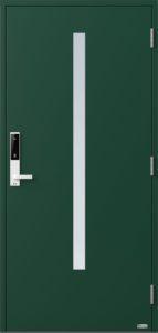 NorDan ytterdør Bardu med RAL6005 farge og ID Lock hvit