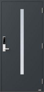 NorDan ytterdør Bardu med RAL7016 farge og ID Lock hvit