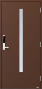 NorDan ytterdør Bardu med RAL8011 farge og ID Lock hvit