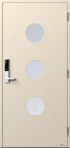 NorDan ytterdør Måna3 med RAL1013 farge og ID Lock hvit