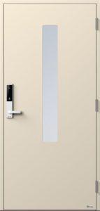 NorDan ytterdør Pasvik med RAL1013 farge og ID Lock hvit