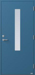 NorDan ytterdør Pasvik med RAL5007 farge
