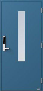 NorDan ytterdør Pasvik med RAL5007 farge og ID Lock hvit