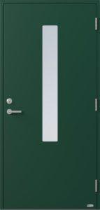 NorDan ytterdør Pasvik med RAL6005 farge