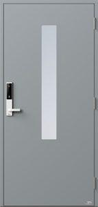 NorDan ytterdør Pasvik med RAL7040 farge og ID Lock hvit