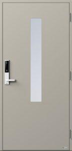 NorDan ytterdør Pasvik med RAL7044 farge og ID Lock hvit