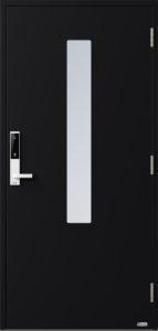 NorDan ytterdør Pasvik med RAL9005 farge og ID Lock hvit
