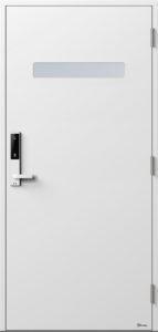 NorDan ytterdør Trysil med NCS S0500N farge og ID Lock hvit