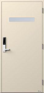 NorDan ytterdør Trysil med RAL1013 farge og ID Lock hvit