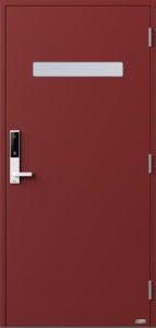 NorDan ytterdør Trysil med RAL3011 farge og ID Lock hvit