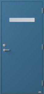 NorDan ytterdør Trysil med RAL5007 farge