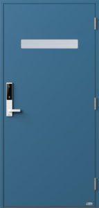 NorDan ytterdør Trysil med RAL5007 farge og ID Lock hvit