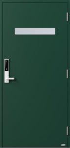 NorDan ytterdør Trysil med RAL6005 farge og ID Lock hvit