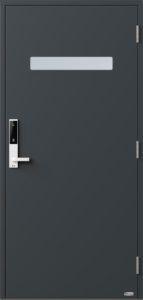 NorDan ytterdør Trysil med RAL7016 farge og ID Lock hvit