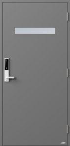 NorDan ytterdør Trysil med RAL7037 farge og ID Lock hvit