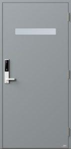 NorDan ytterdør Trysil med RAL7040 farge og ID Lock hvit