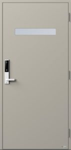 NorDan ytterdør Trysil med RAL7044 farge og ID Lock hvit