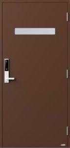 NorDan ytterdør Trysil med RAL8011 farge og ID Lock hvit