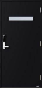 NorDan ytterdør Trysil med RAL9005 farge og ID Lock hvit