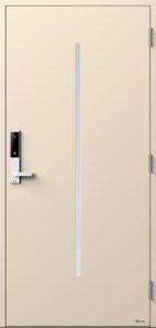 NorDan ytterdør Nea med RAL1013 farge og ID Lock hvit