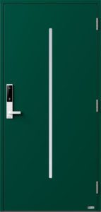 NorDan ytterdør Nea med RAL6005 farge og ID Lock hvit