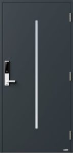 NorDan ytterdør Nea med RAL7016 farge og ID Lock hvit
