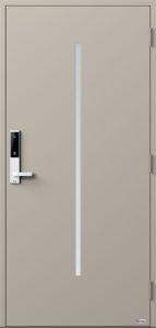 NorDan ytterdør Nea med RAL7044 farge og ID Lock hvit