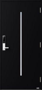 NorDan ytterdør Nea med RAL9005 farge og ID Lock hvit