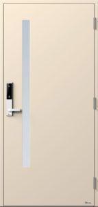 NorDan ytterdør Sira med RAL1013 farge og ID Lock hvit