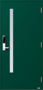NorDan ytterdør Sira med RAL6005 farge og ID Lock hvit