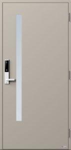NorDan ytterdør Sira med RAL7044 farge og ID Lock hvit
