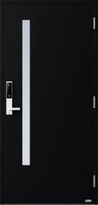 NorDan ytterdør Sira med RAL9005 farge og ID Lock hvit